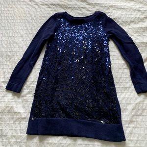 GAP kids navy blue sequin dress